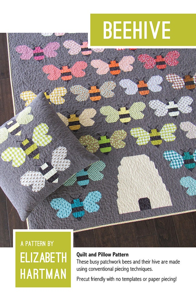 Image of BEEHIVE pdf quilt and pillow pattern