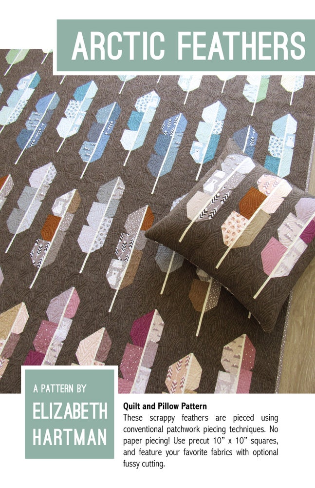 Image of ARCTIC FEATHERS pdf quilt and pillow pattern