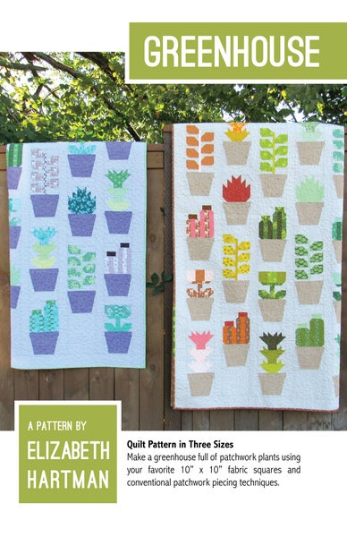 Image of GREENHOUSE pdf quilt pattern