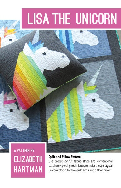 Image of LISA THE UNICORN pdf quilt pattern