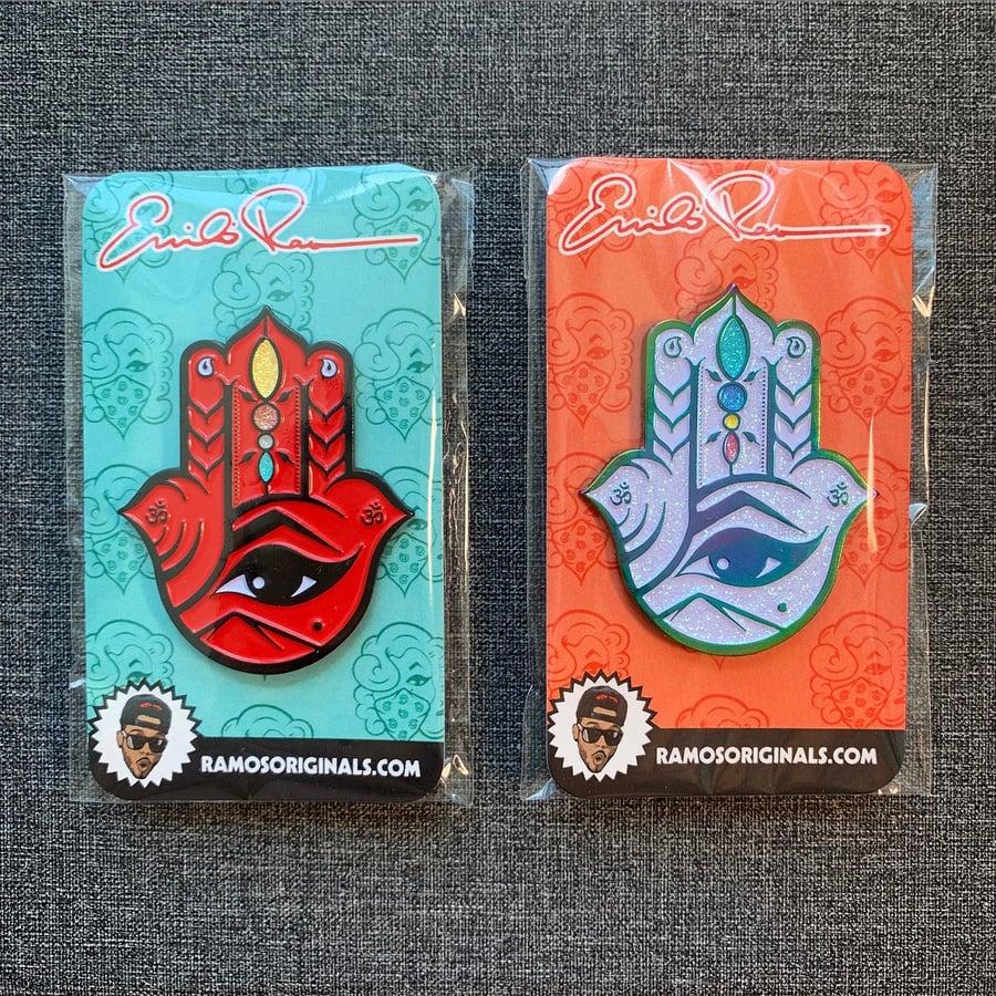 Image of HAMSA PINS (SET OF 2 / BOTH COLORS)