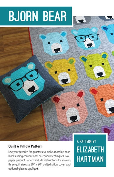 Image of BJORN BEAR pdf quilt and pillow pattern