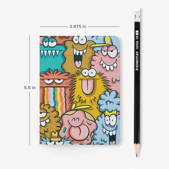 Image of POCKET NOTEBOOK - ALOHA MONSTERS