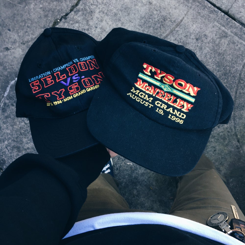 Image of 90's Mike Tyson Snapback Hats.