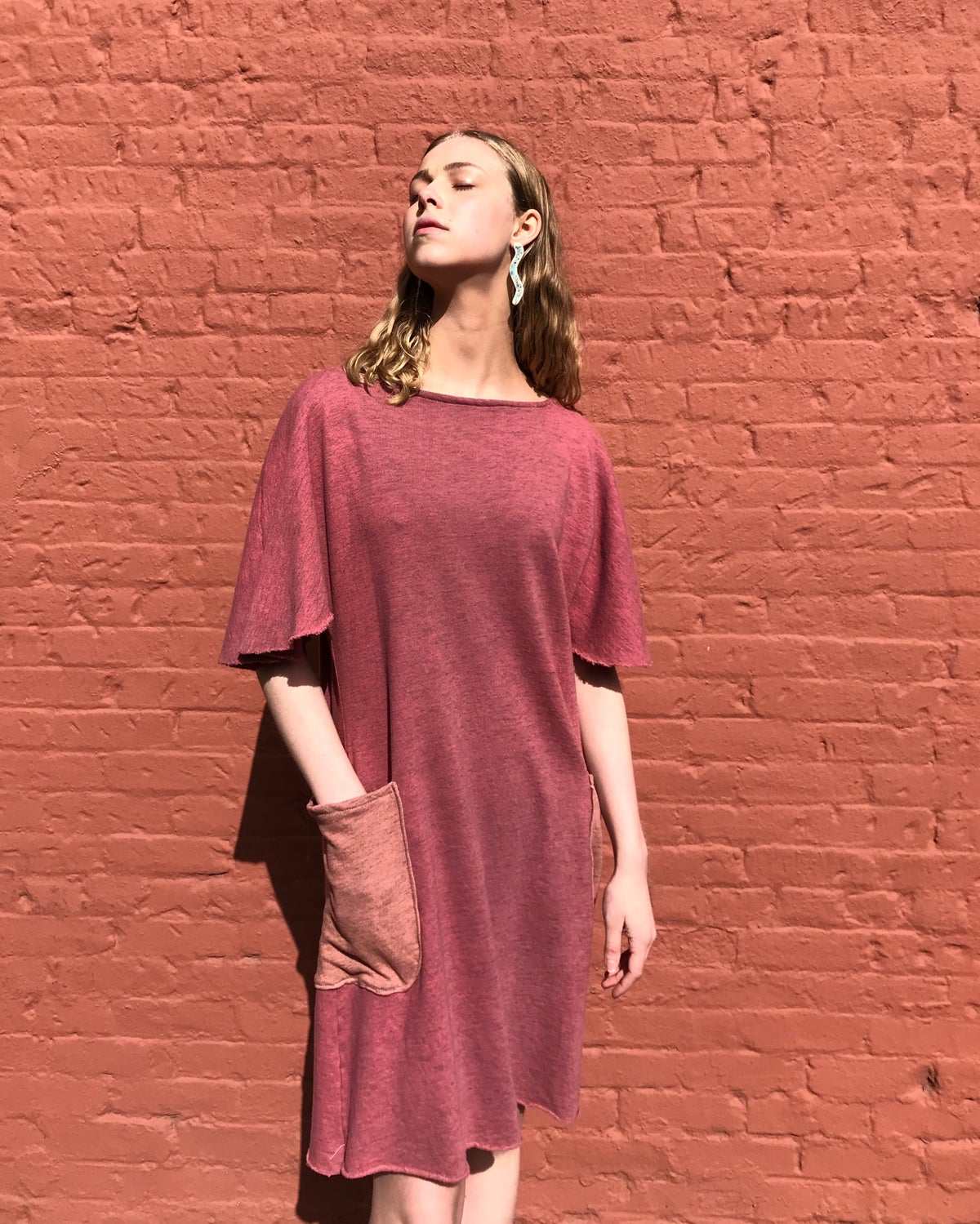 Image of French Terry Sweatshirt Dress With Big Pockets