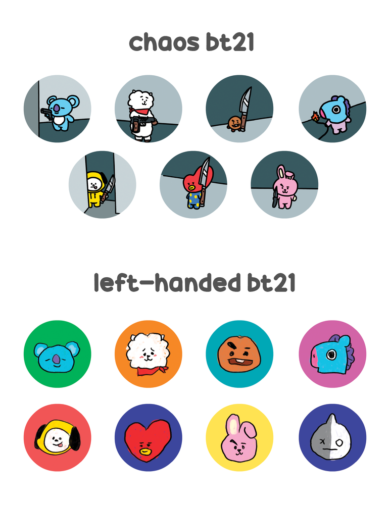 Image of BT21 & Hamjin Buttons