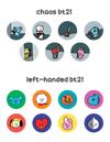 BT21 & Hamjin Buttons