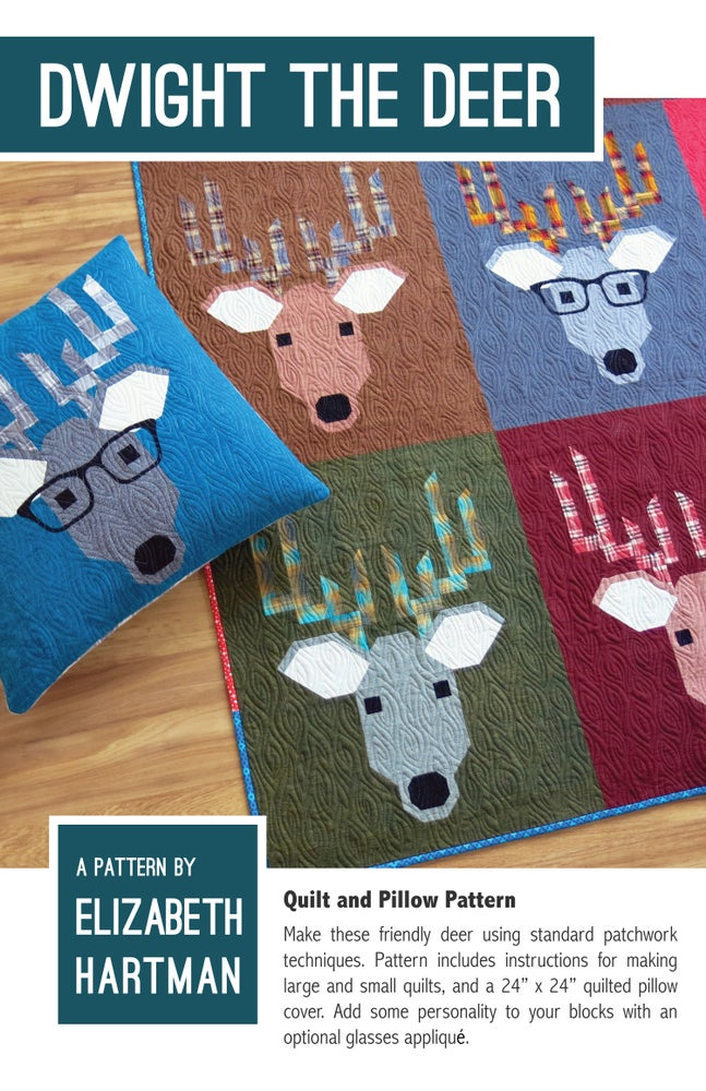 Image of DWIGHT THE DEER pdf quilt and pillow pattern