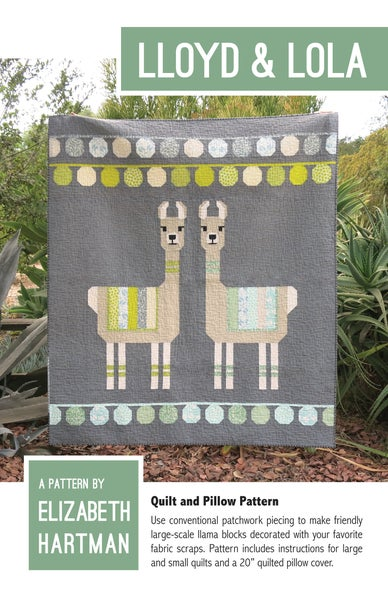 Image of LLOYD & LOLA pdf quilt and pillow pattern