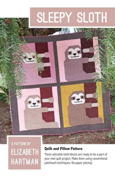 Image of SLEEPY SLOTH pdf quilt and pillow pattern