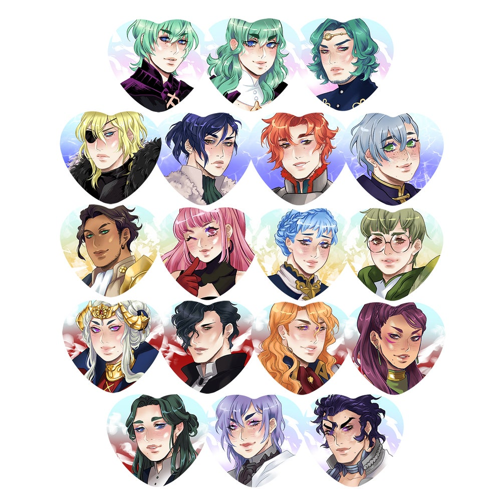 Image of fe three houses buttons