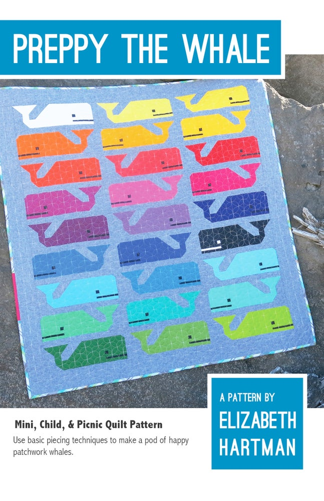 Image of PREPPY THE WHALE pdf quilt pattern