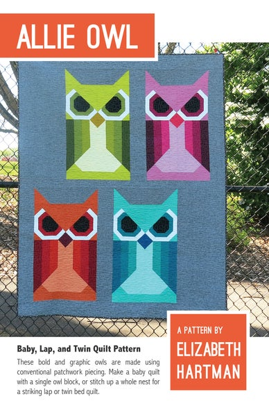Image of ALLIE OWL pdf quilt pattern