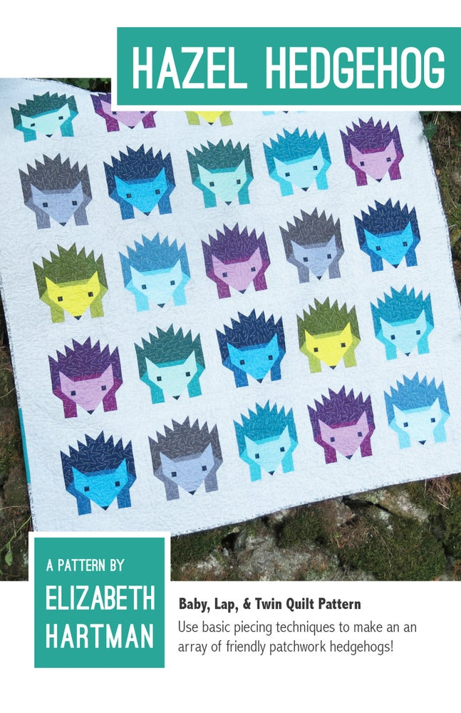 Image of HAZEL HEDGEHOG pdf quilt pattern