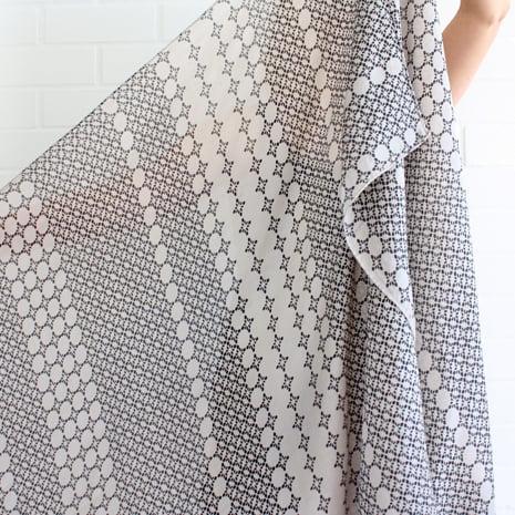 Image of Diamond Print Silk Habotai Scarf