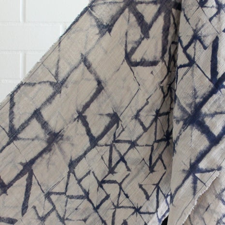 Image of Paper print double layer cotton scarf