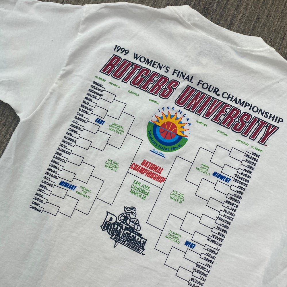 Image of Deadstock Vintage Rutgers Women's Basketball 1999 March Madness Tee