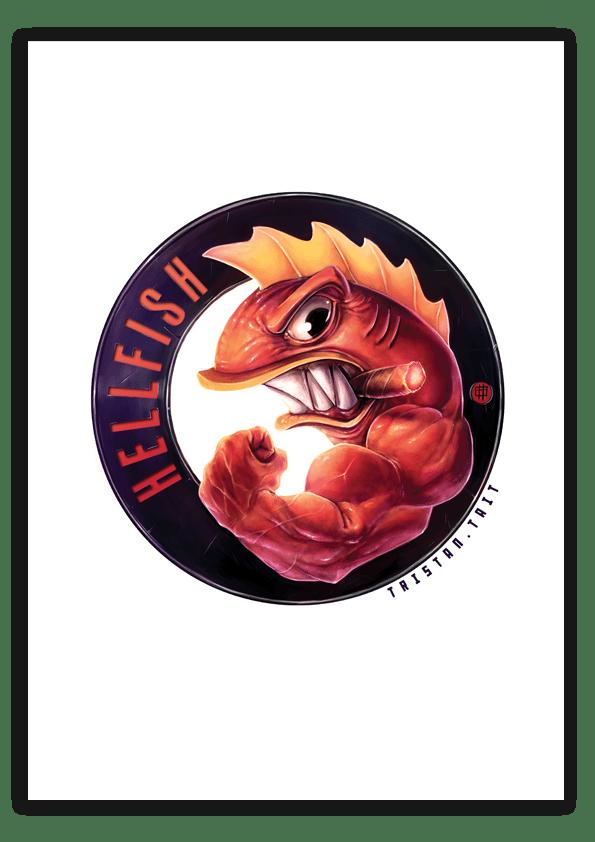 Image of Hellfish - A3 Poster Print