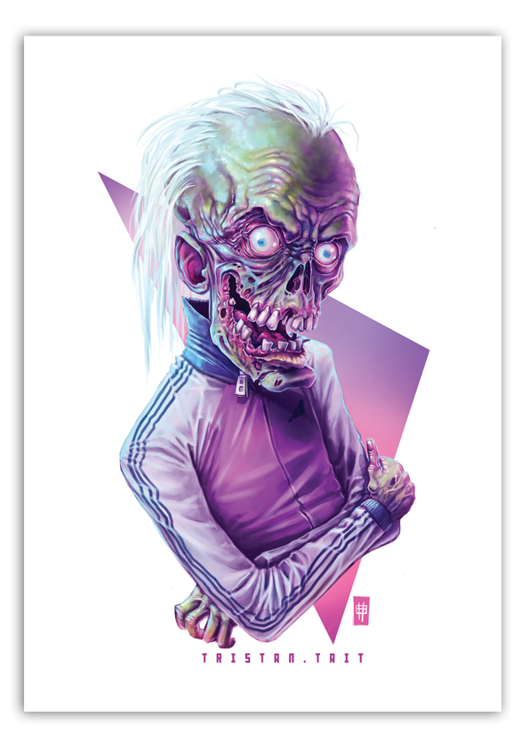 Image of 'Rad Ghoul' - A3 Poster Print
