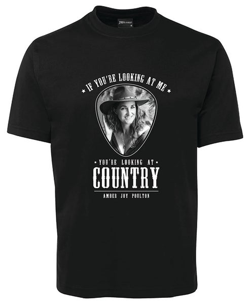 "Image of T-Shirt - ""IF YOU'RE LOOKING AT ME, You're Looking At Country"" T-shirt (+ secret song)"