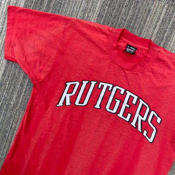 Image of Vintage Faded Rutgers Arc Logo Tee