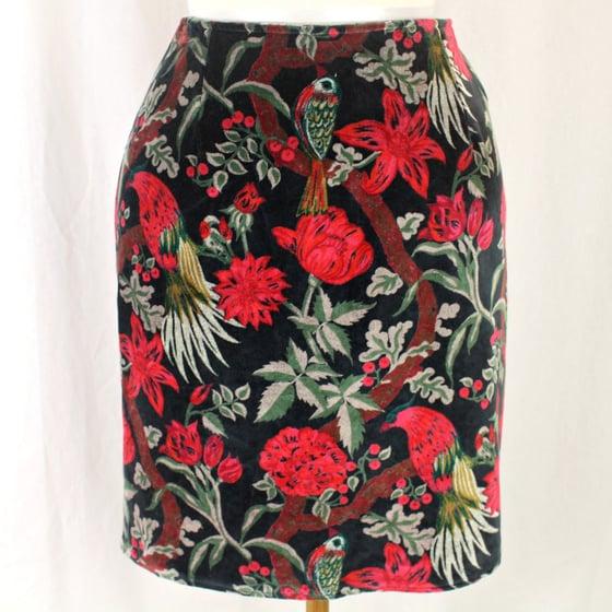 Image of Velvet Skirt - Birdwatch Black
