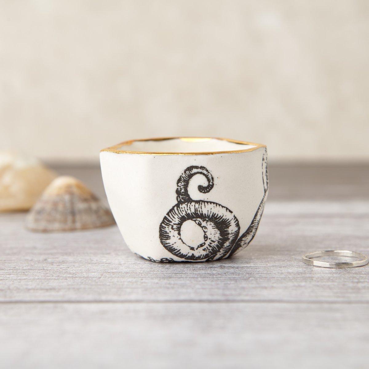 Porcelain Octopus Ring Pot