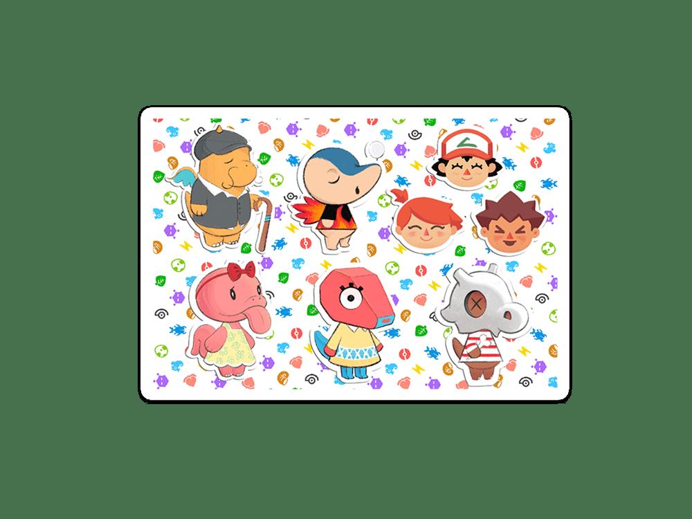 NEW Pokémon crossing sticker sheets w/ free Eevee sticker