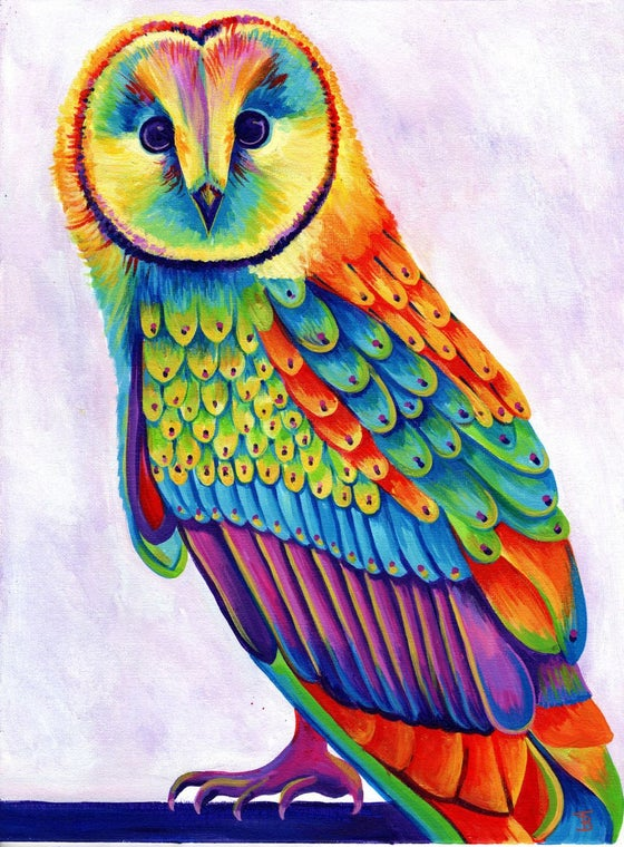 Image of Rainbow Olive the Owl