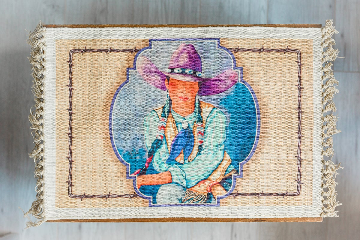 Image of Cowgirl Barbed Wire Placemat