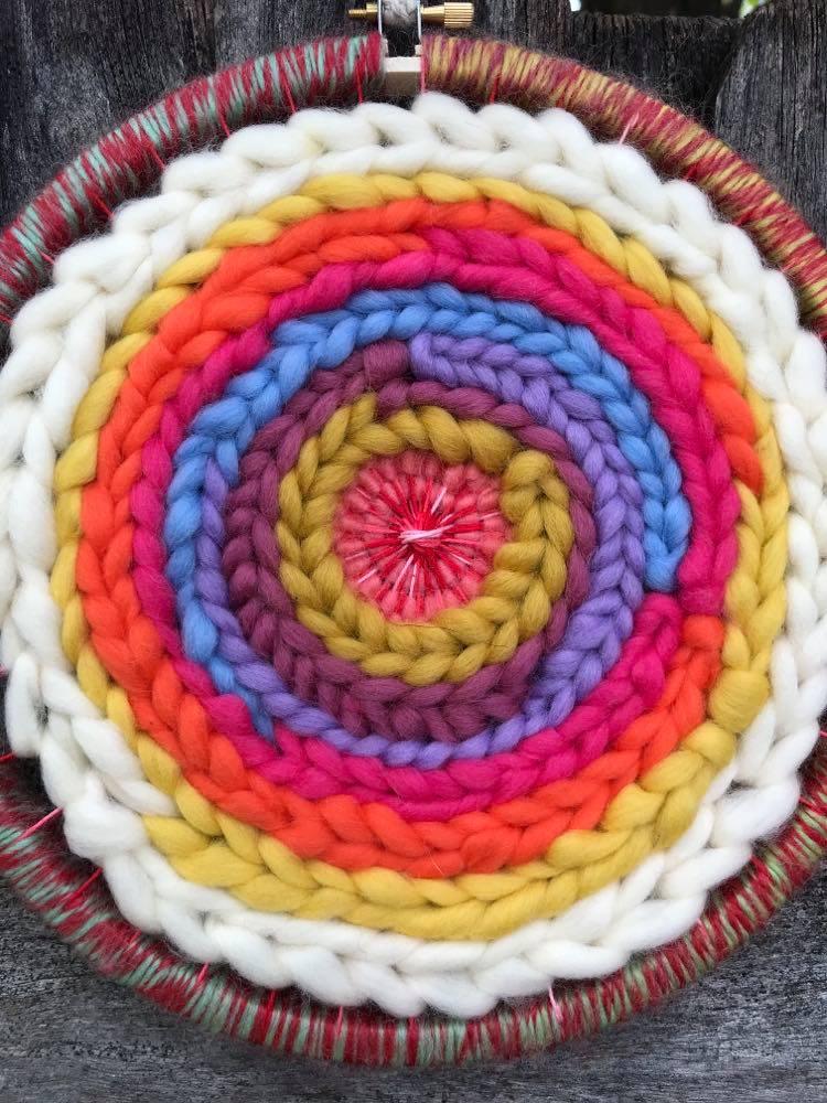 Circular Rainbow Weaving