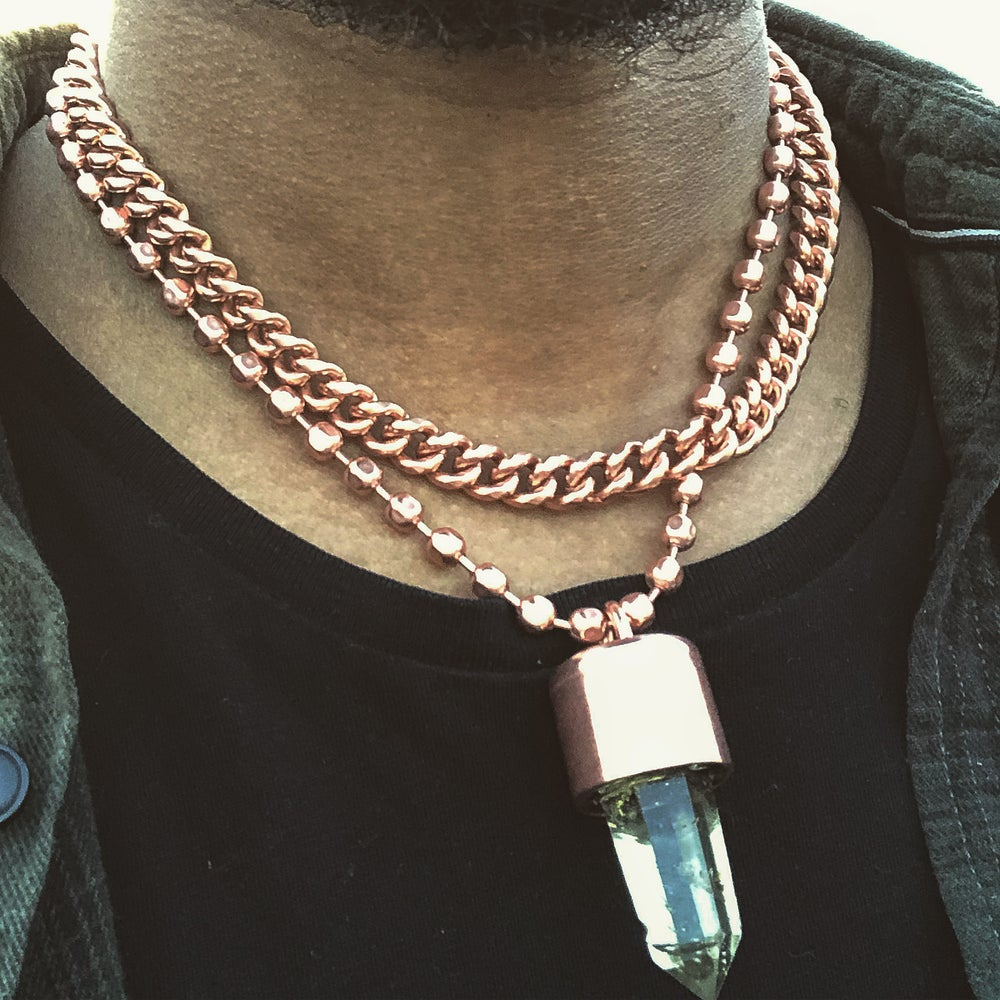 Image of Copper Cuban Link Necklace 9.4mm