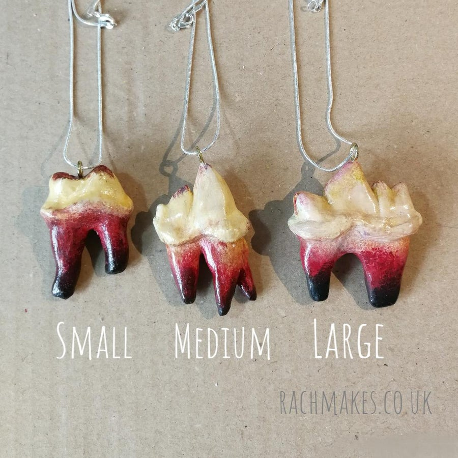 Image of Monster tooth necklace.