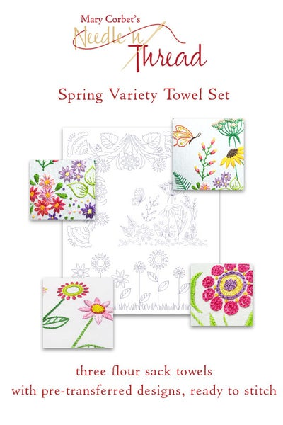 Image of Ready-to-Stitch Spring Variety Towel Set