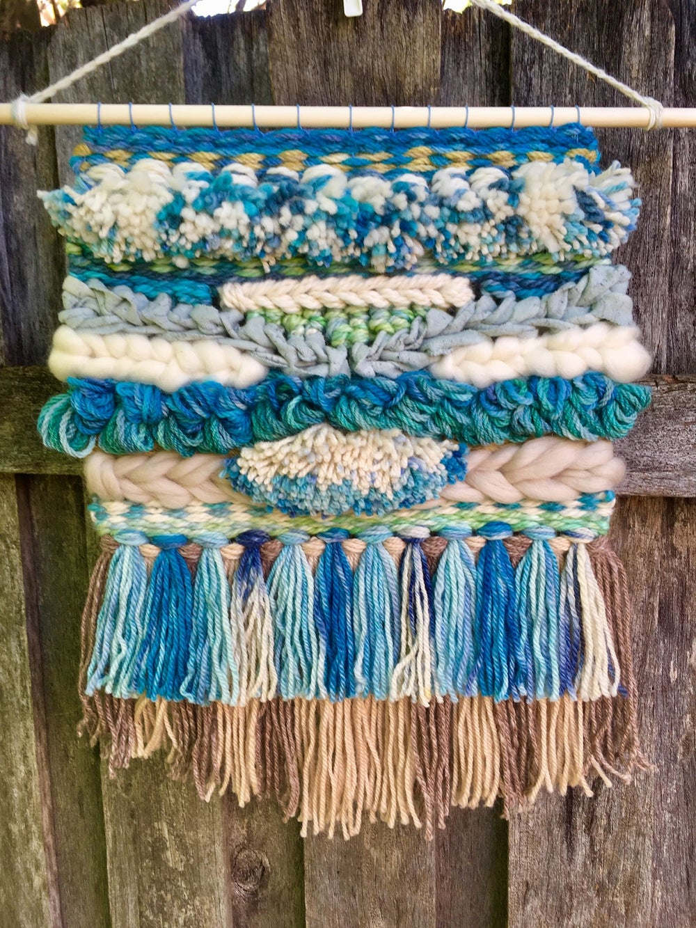 Image of Blue Skies Woven Alpaca Wall Hanging