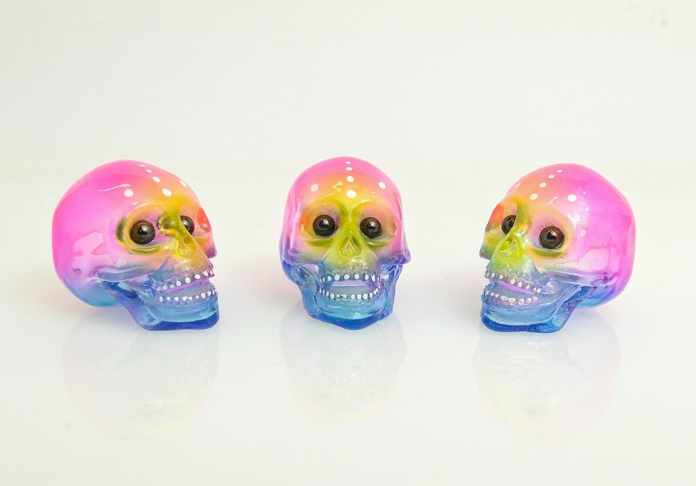 Image of Custom Neon Mini Sofubi Skull