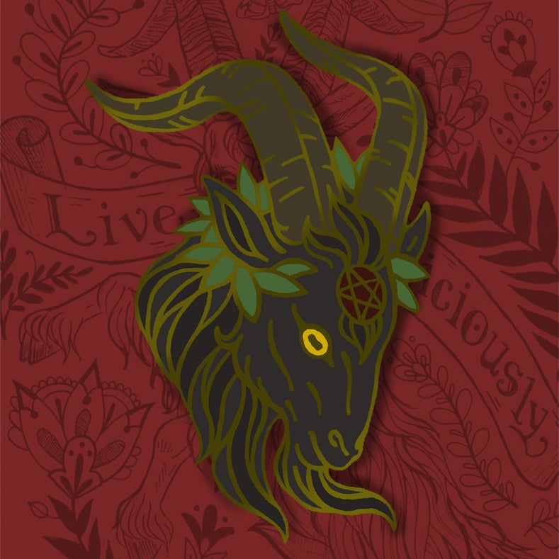 Image of Live Deliciously Enamel Pin