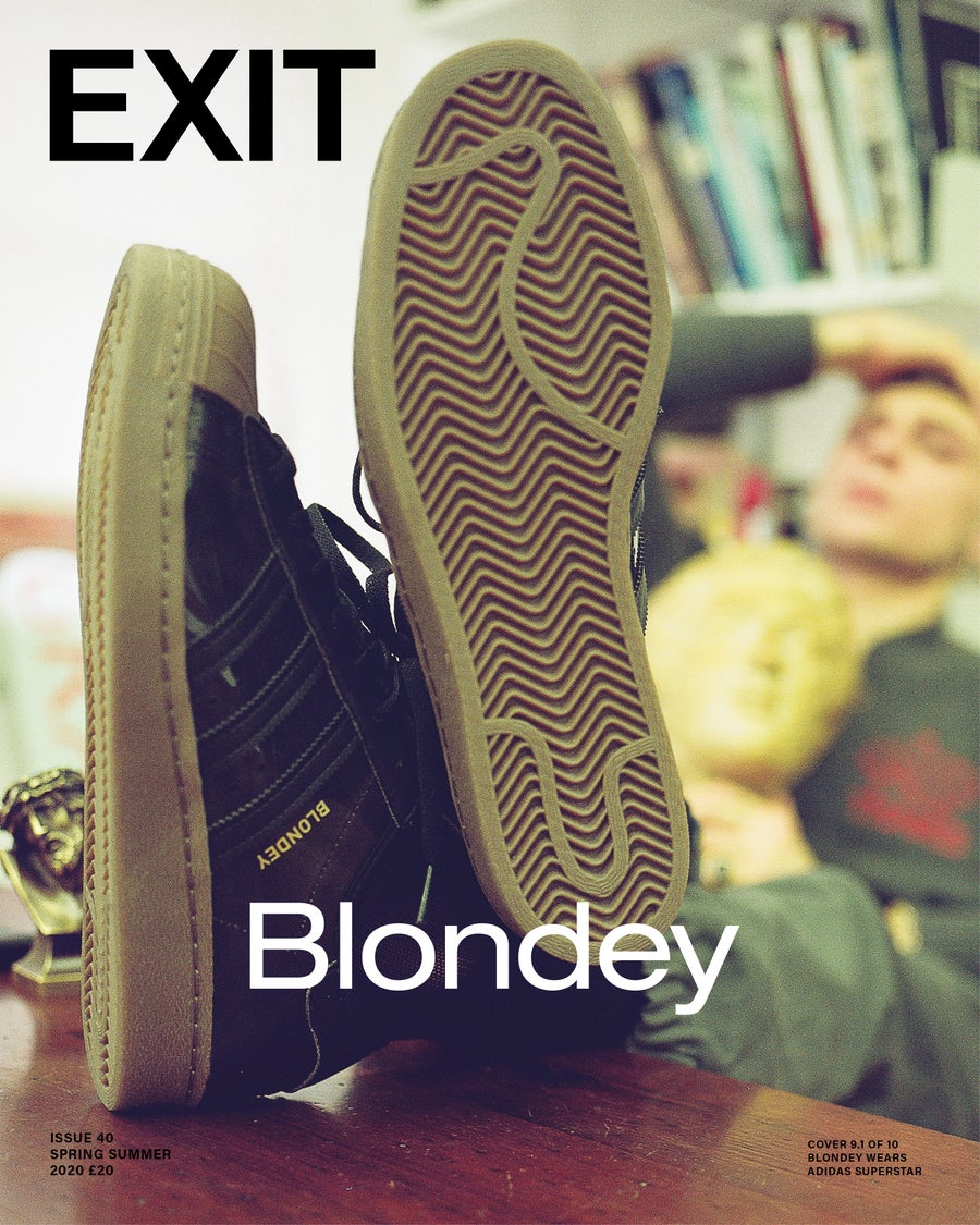 Image of EXIT ISSUE 40 SPRING SUMMER 2020 BLONDEY Cover 2  (Shipping April 2020) ***HARD BACK COVER***