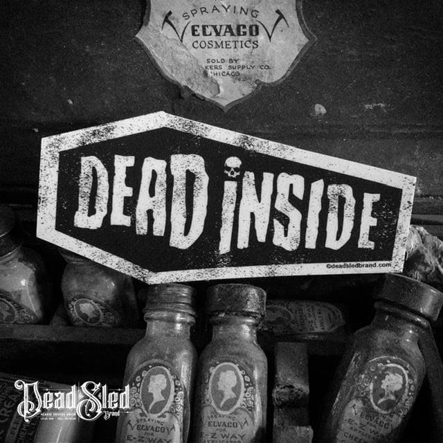 Image of Dead Inside 5-Inch die-cut coffin sticker