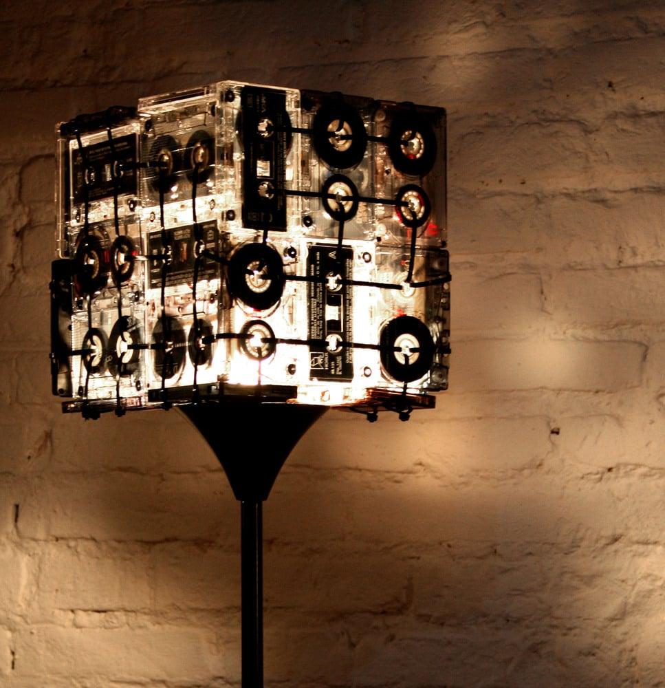 Image of Cassette tapes floor lamp