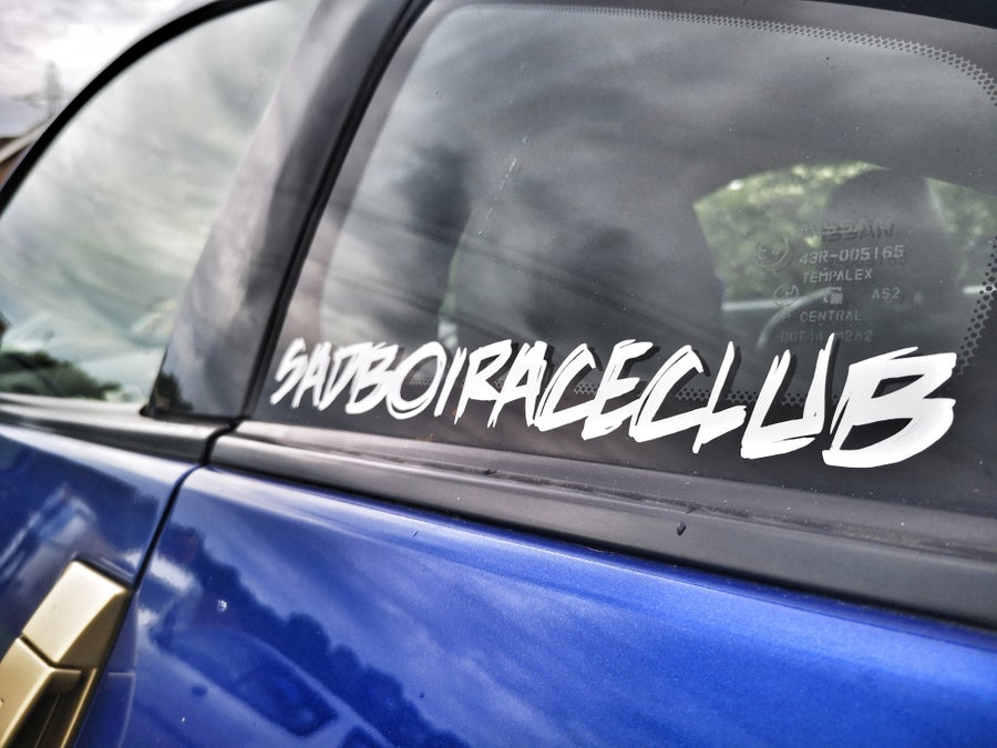 "Image of SadBoiRaceClub ""OG"" Team Sticker various colours"