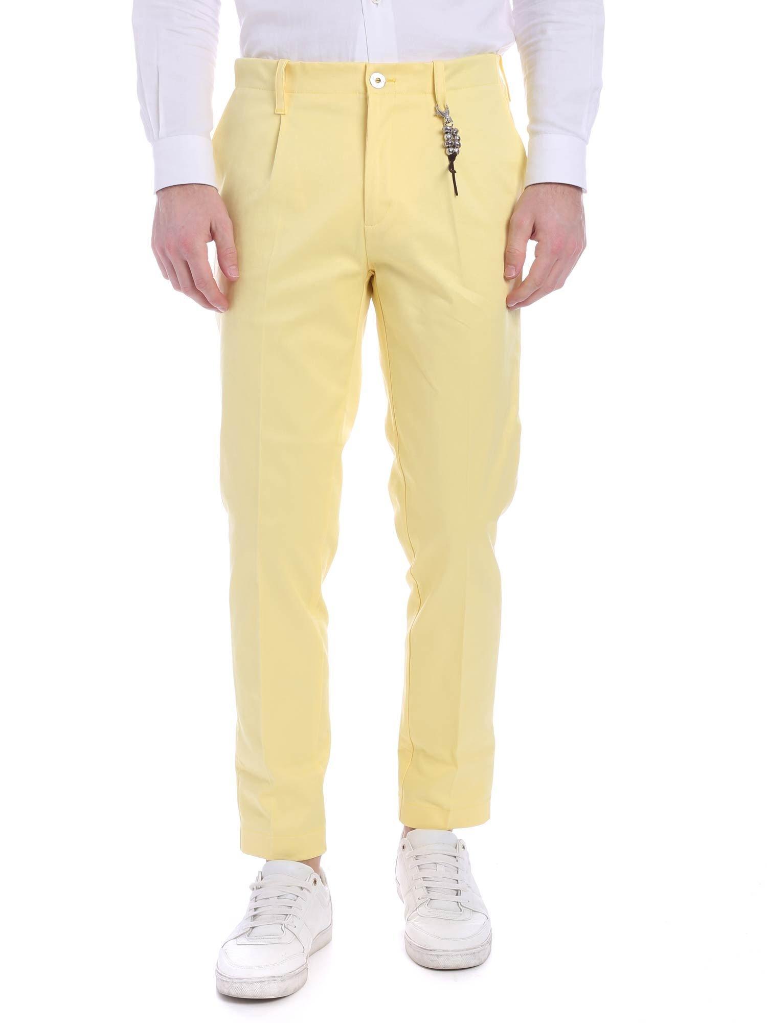 Image of Pantalone una pence lino giallo R92 L-G