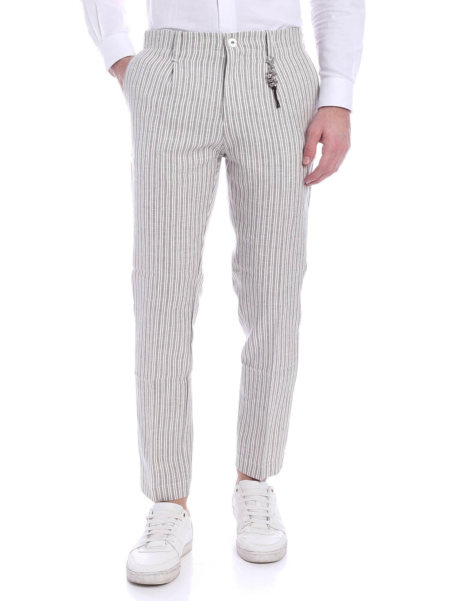 Image of Pantalone lino righe R92 L-RI