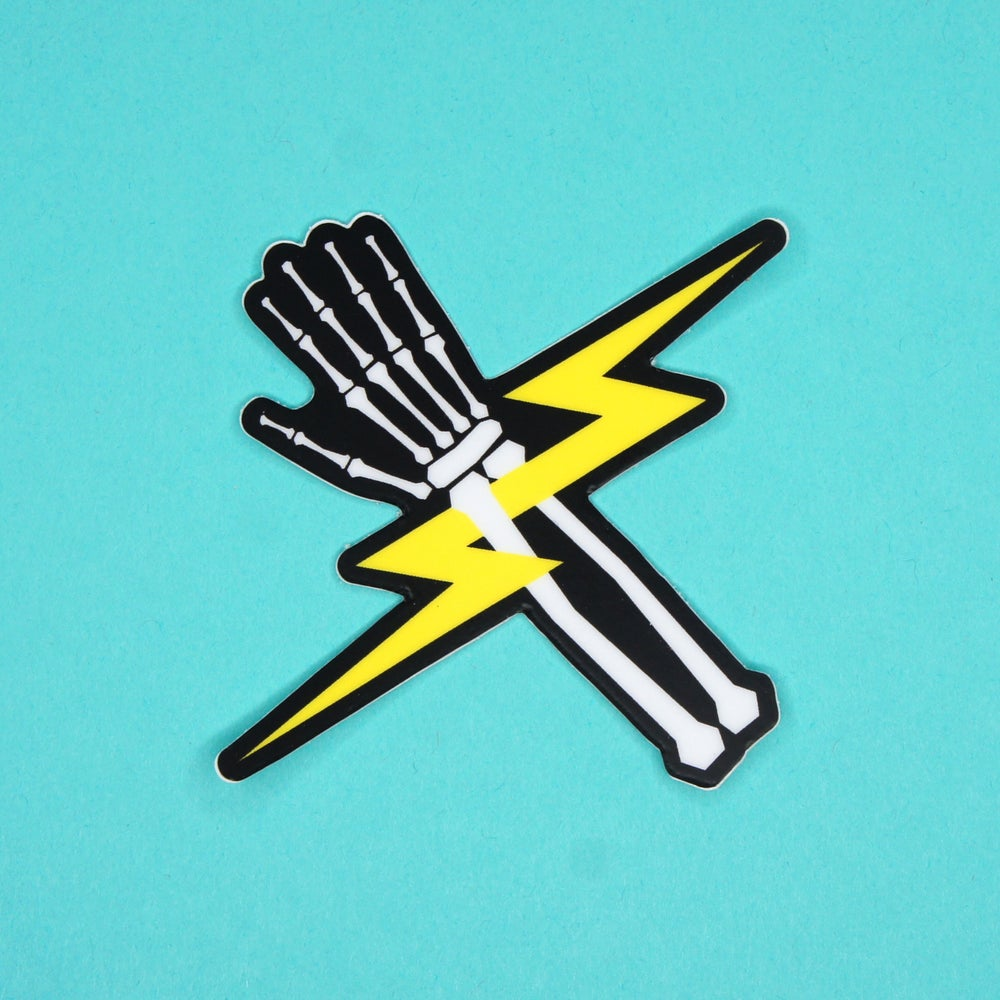 Image of Lighting Bones Sticker
