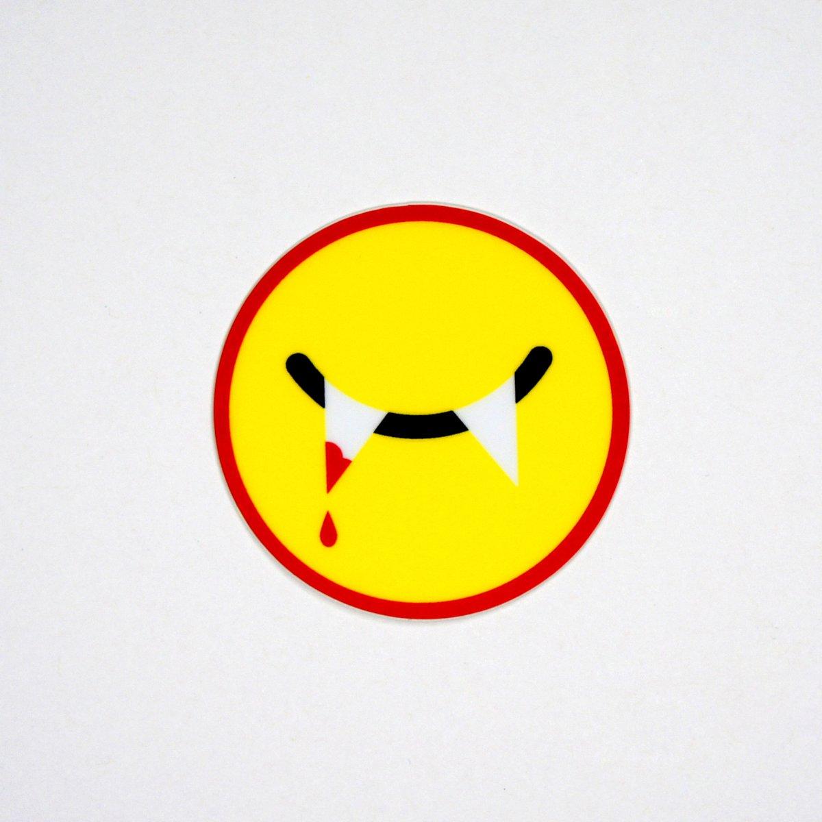 Vampire Smiley Sticker
