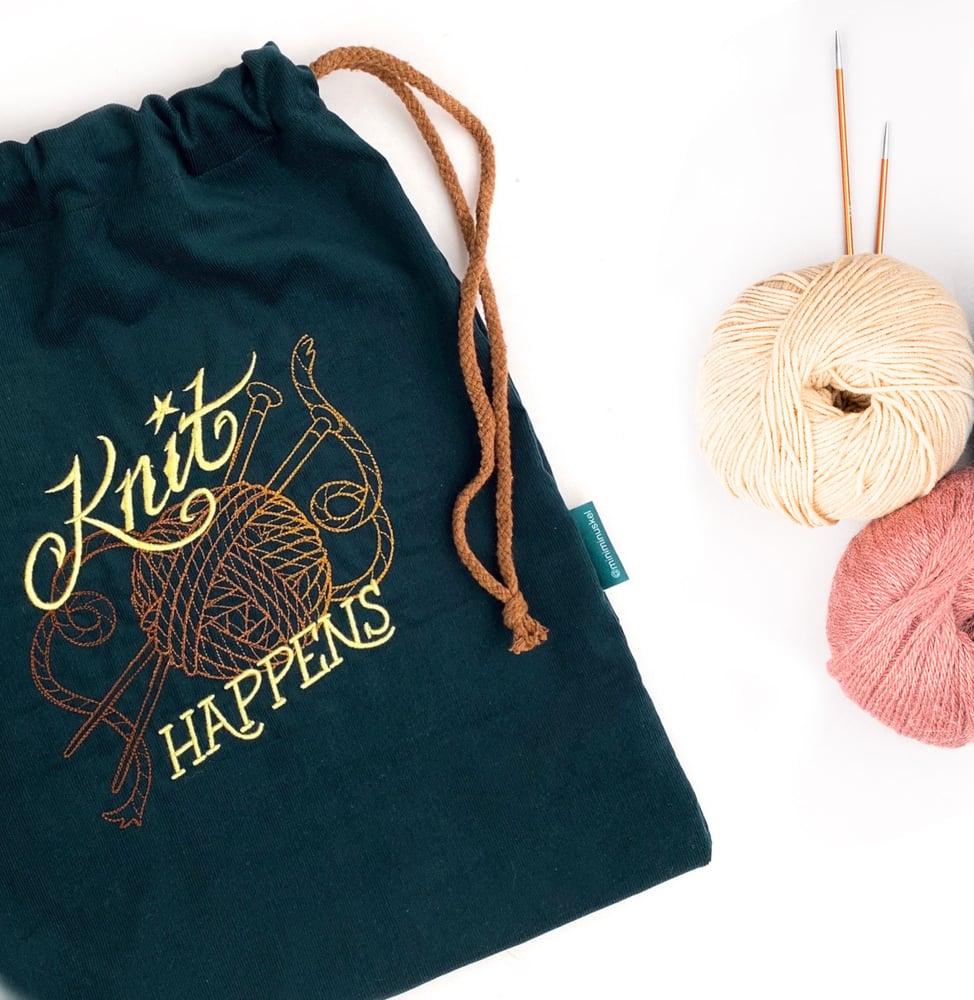 """Image of Strikkepose """"Knit Happens"""""""