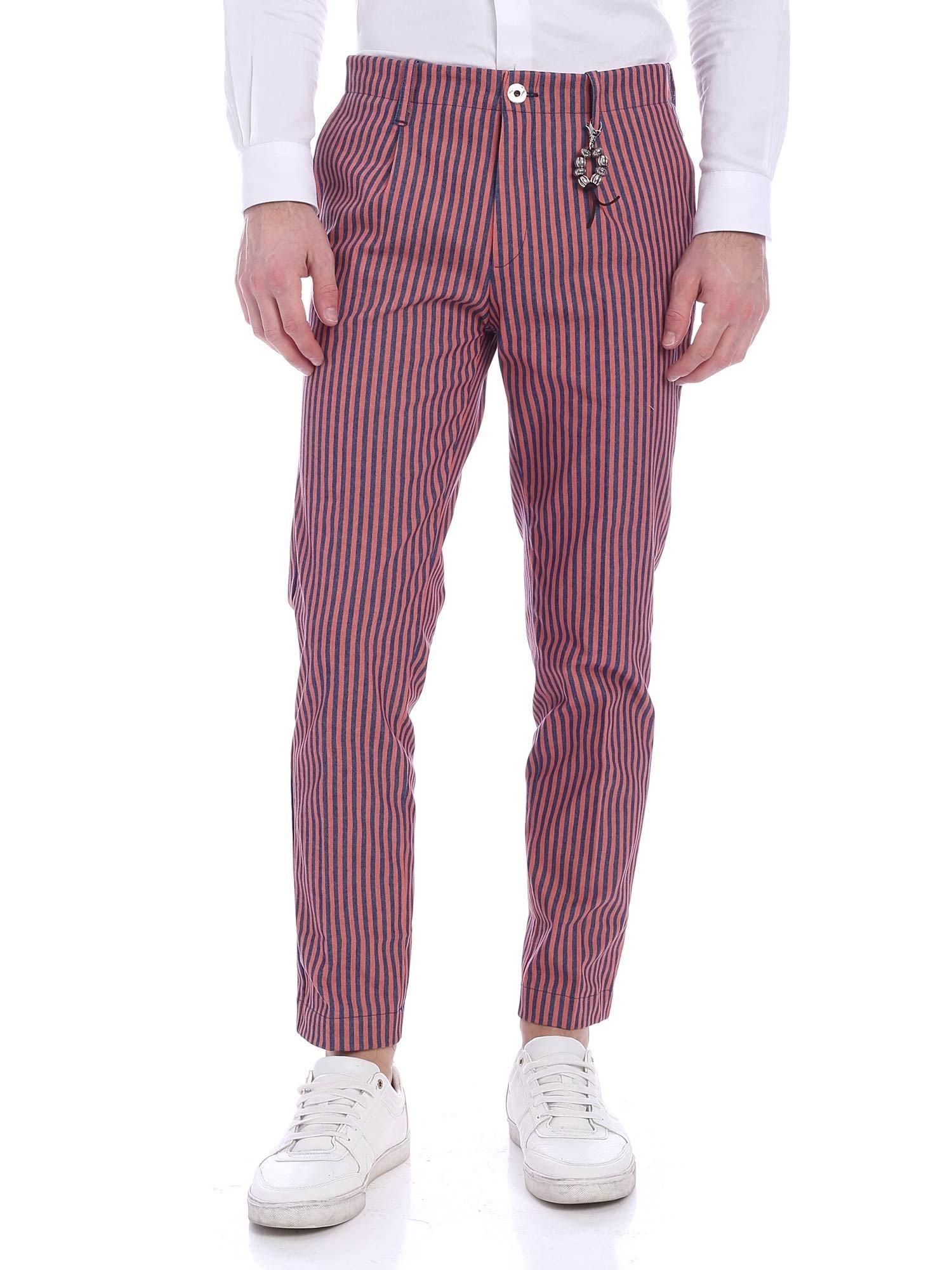 Image of Pantalone una pence riga blu rossa R92 D-BR