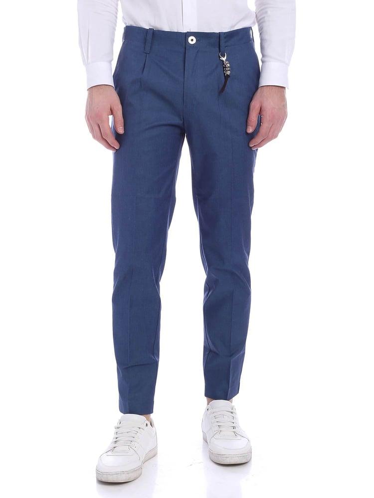 Image of Pantalone una pence blu Capri R92 C-BC