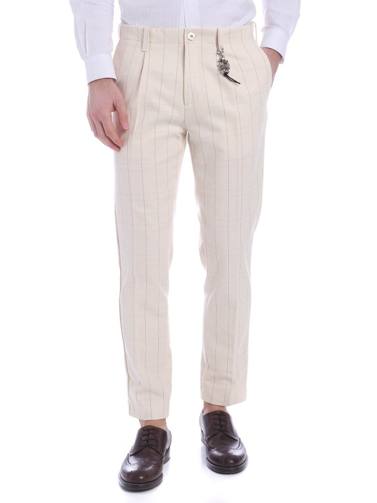 Image of Pantalone una pence denim ecrù riga R92 D-EC