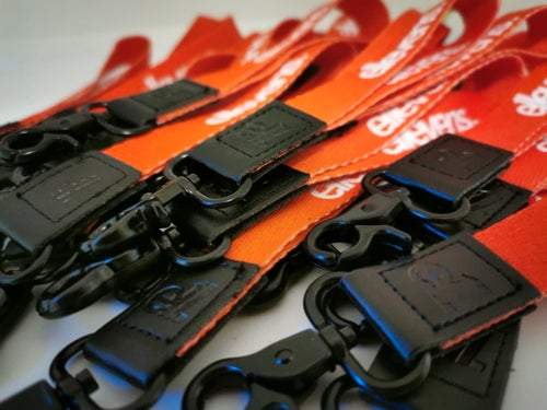 Image of E11evens - Red and black short style lanyard